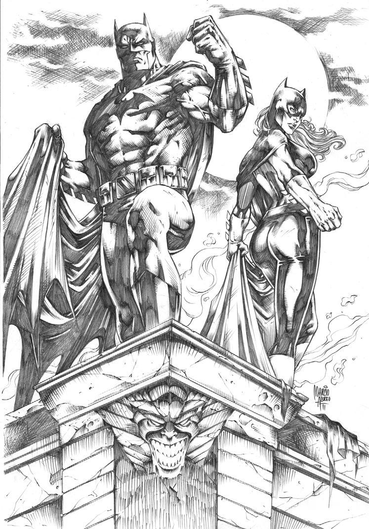 Batman_Batgirl by MARCIOABREU7