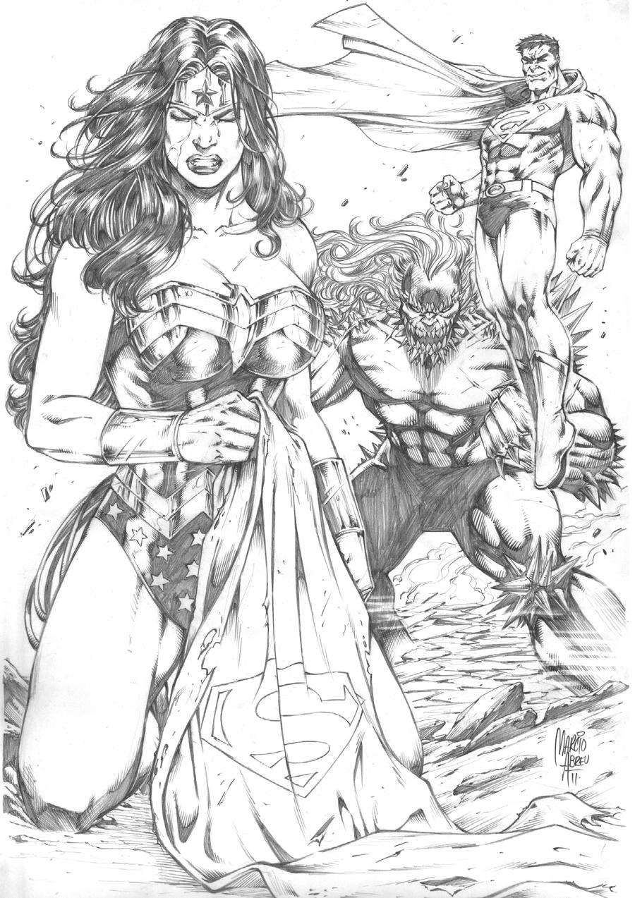 Wonder Woman Defeated Deviantart Superman: defeated // penciled