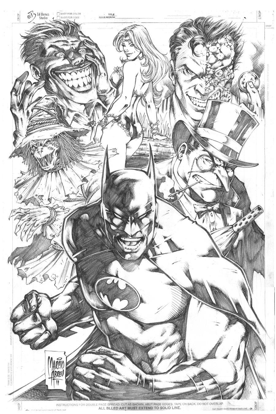 Batman vs Enemies by MARCIOABREU7