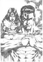 Superman_Wonder Woman by MARCIOABREU7