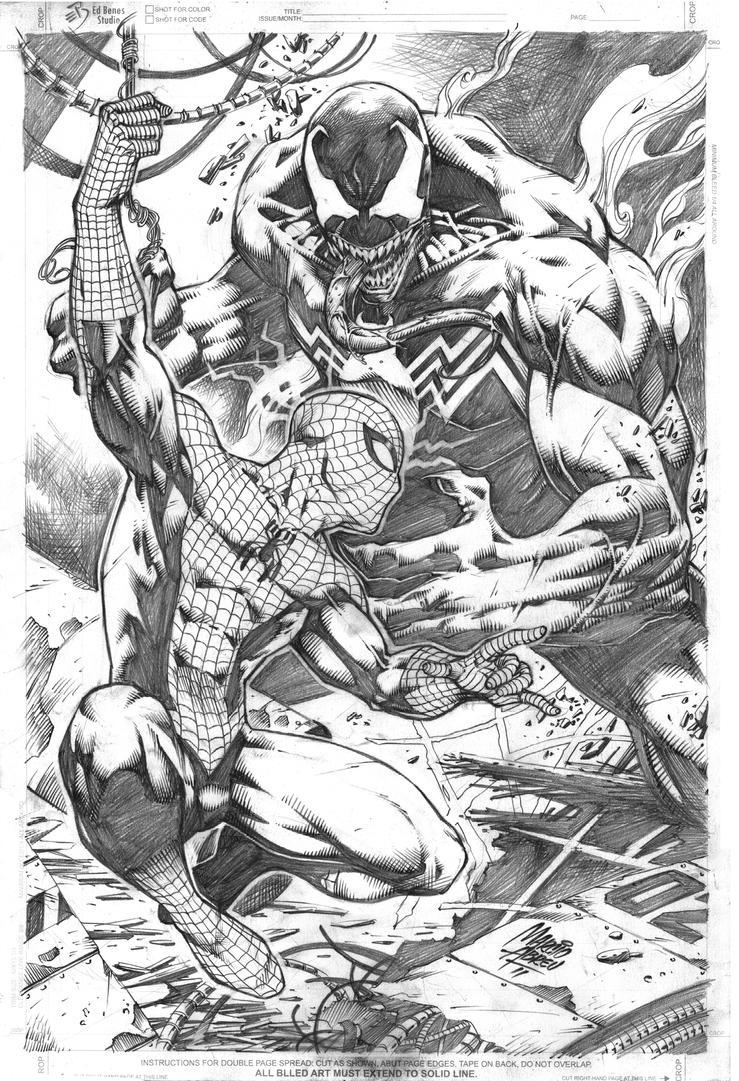 Spiderman vs venom by marcioabreu7 on deviantart for Spiderman vs venom coloring pages