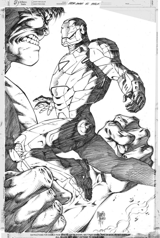 Iron man vs Hulk by MARCIOABREU7