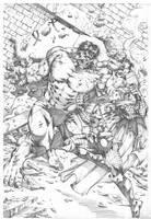 Hulk vs Thor by MARCIOABREU7