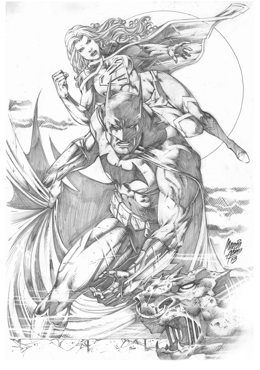 Batman Supergirl by MARCIOABREU7