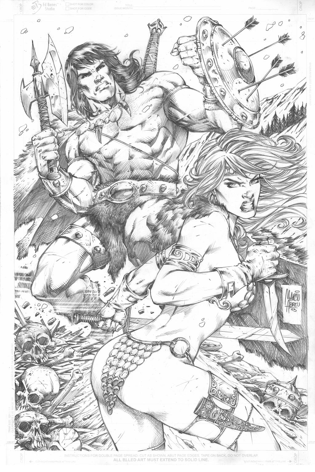 Conan and Sonja by MARCIOABREU7