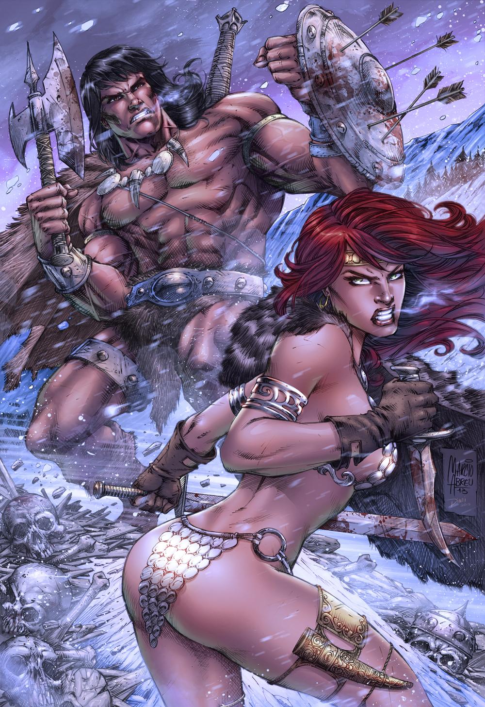 Conan and Sonja Color by MARCIOABREU7