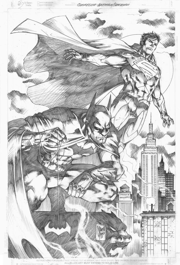 Commission Batman Superman by MARCIOABREU7