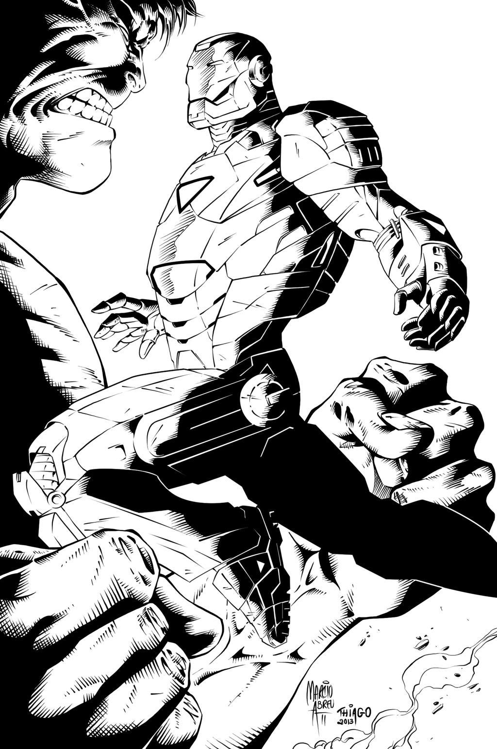 Ironman Hulk Ink by MARCIOABREU7