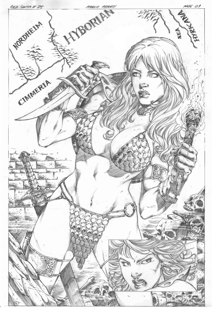 Red Sonja #75 pg 01 by MARCIOABREU7