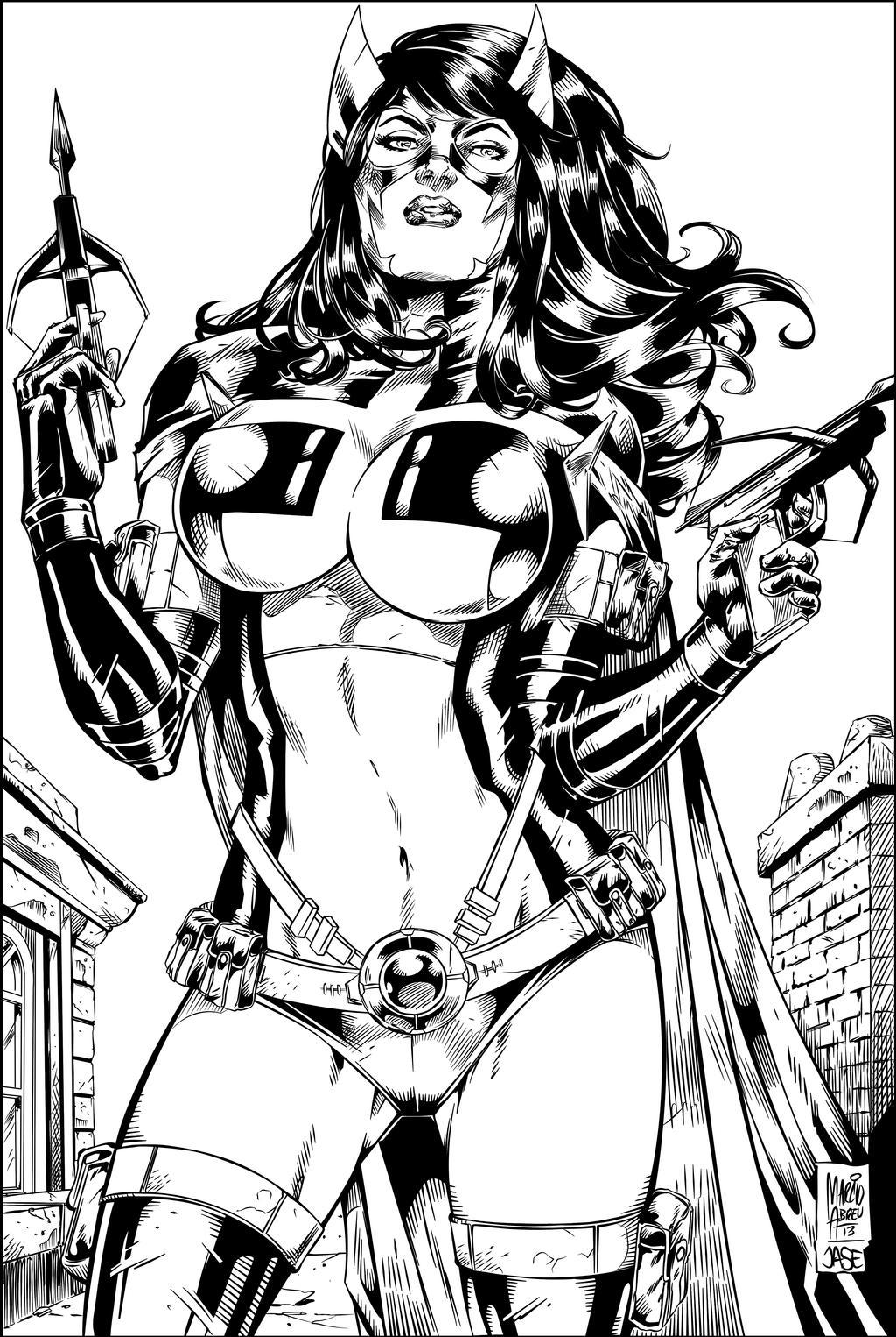 Huntress  Ink by MARCIOABREU7