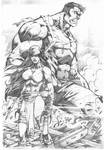 Elektra and Hulk