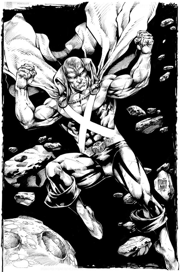Martian Manhunter INK by MARCIOABREU7