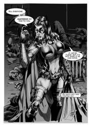 Huntress Lettered by MARCIOABREU7