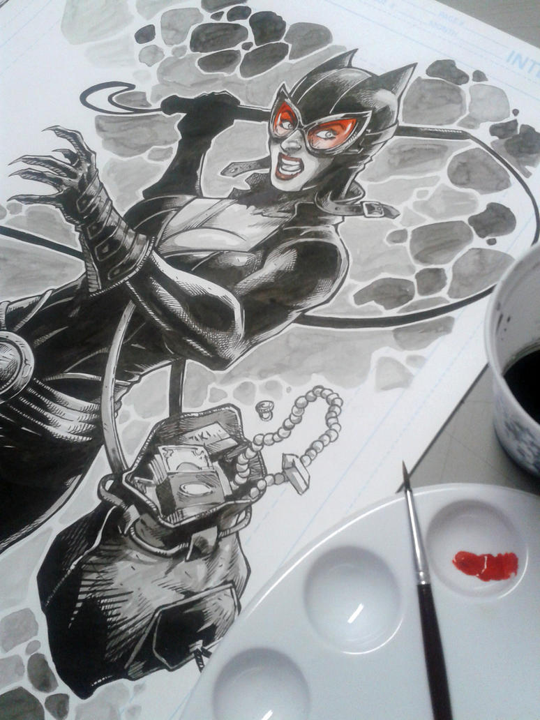Catwoman Ink by MARCIOABREU7