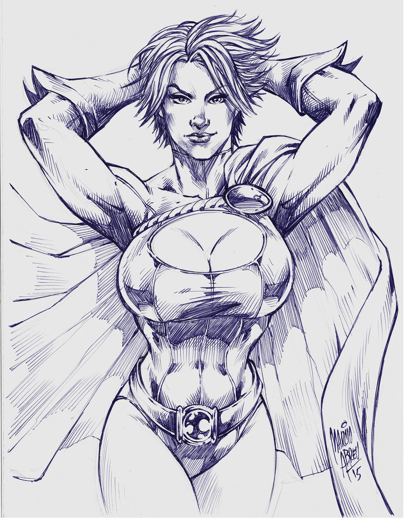 Power girl _ Marcio Abreu by MARCIOABREU7
