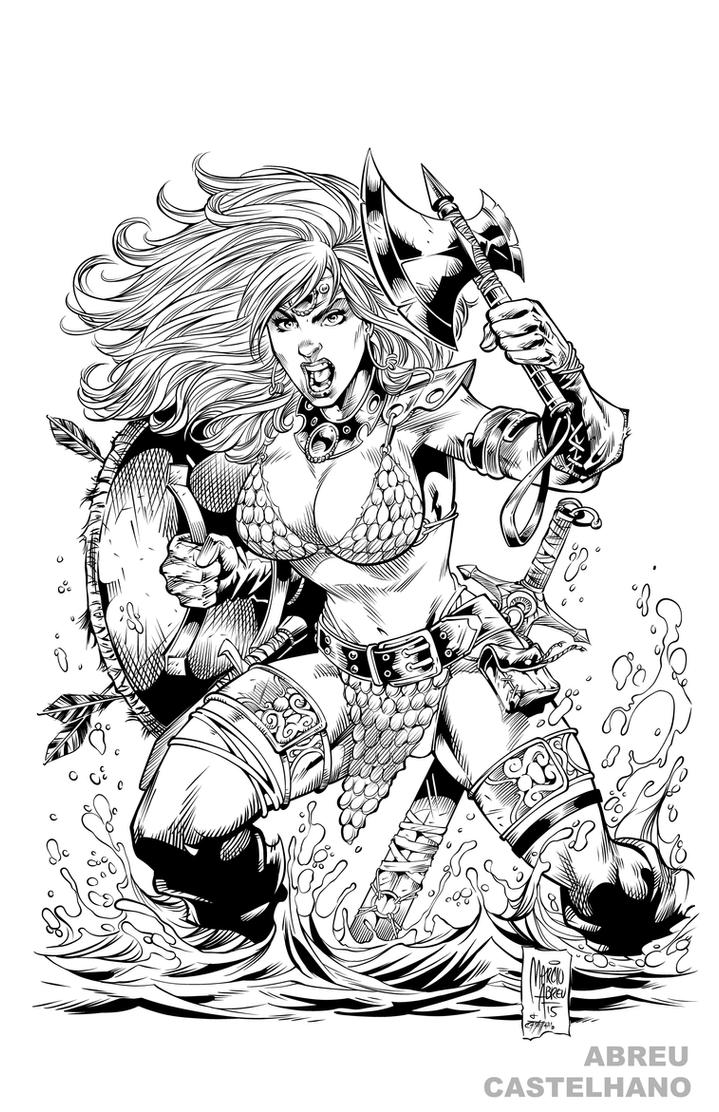 Red Sonja Ink by MARCIOABREU7
