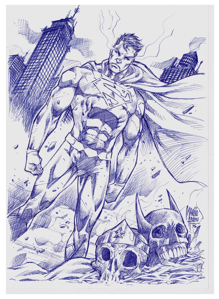 Superman Pen BIC by MARCIOABREU7