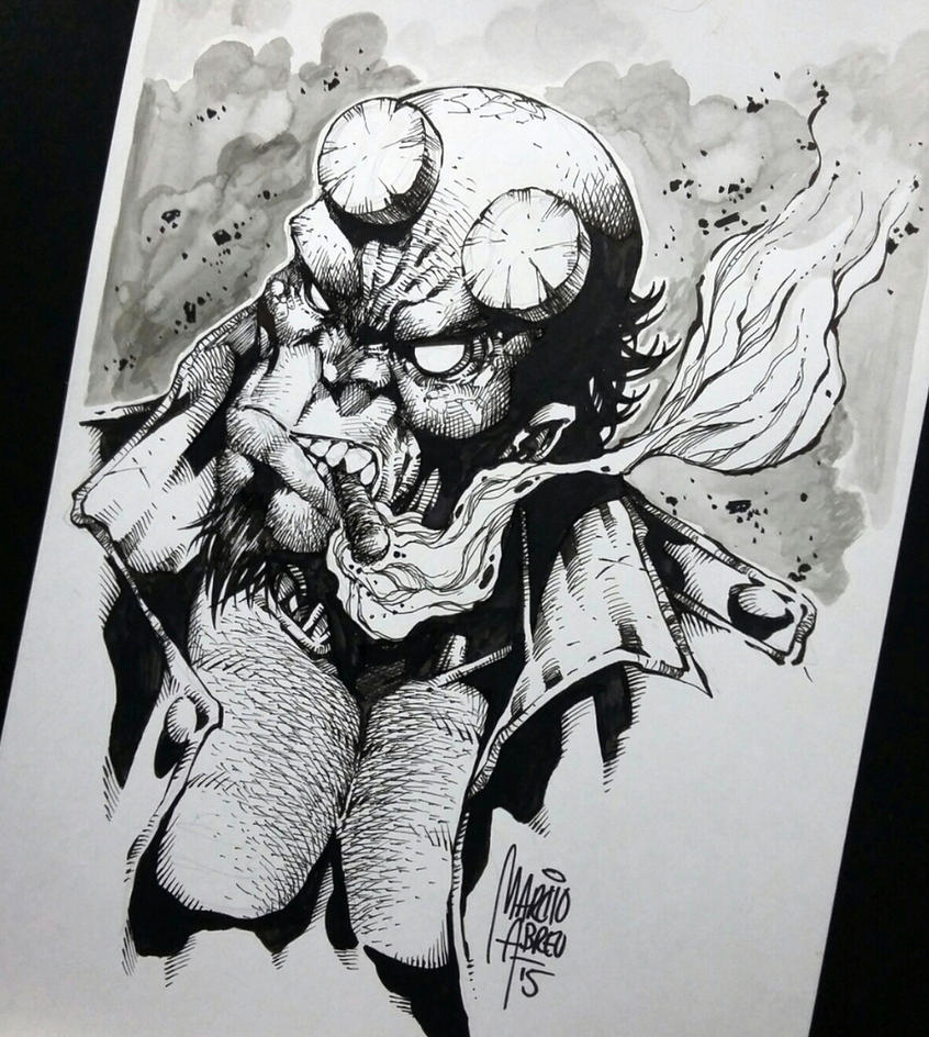 Hell Boy Ink by MARCIOABREU7