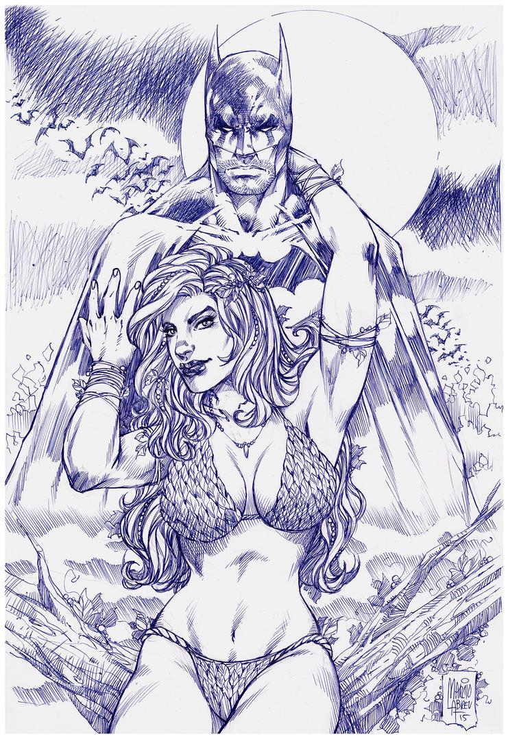 Batman Poison Ivy Pen BIC by MARCIOABREU7