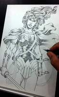 Wonder Woman Pencil by MARCIOABREU7