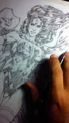 Wonder Woman in progress! by MARCIOABREU7