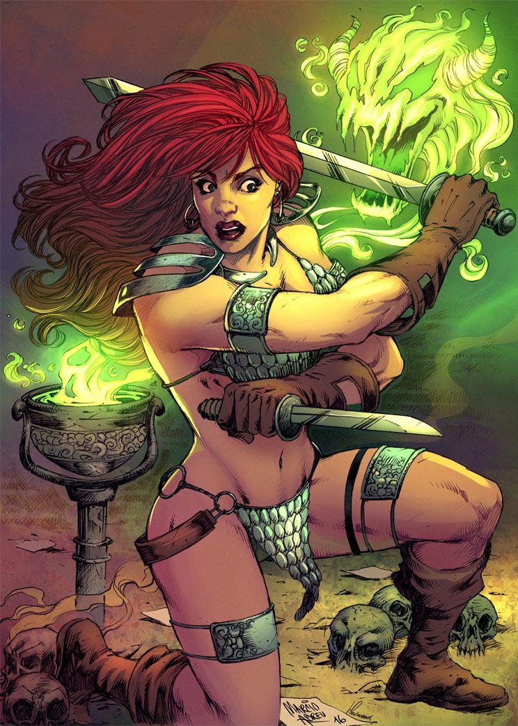 Red Sonja Wizardry! by MARCIOABREU7