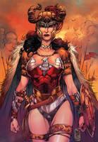 Wonder Woman Warrior Color by MARCIOABREU7