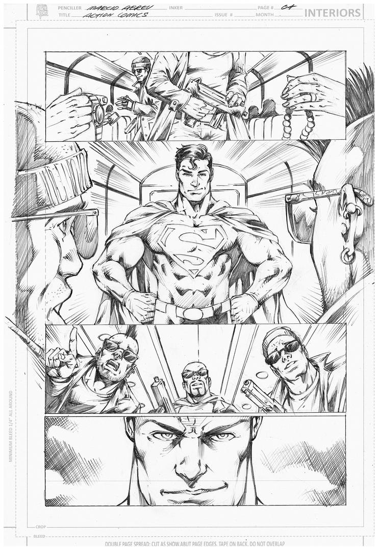Samples Action Comics 04  - Marcio Abreu by MARCIOABREU7