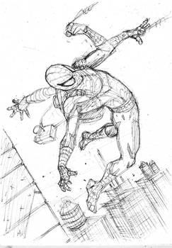 Sketch Spiderman - Marcio Abreu