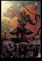 Black Panther  Colors by MARCIOABREU7
