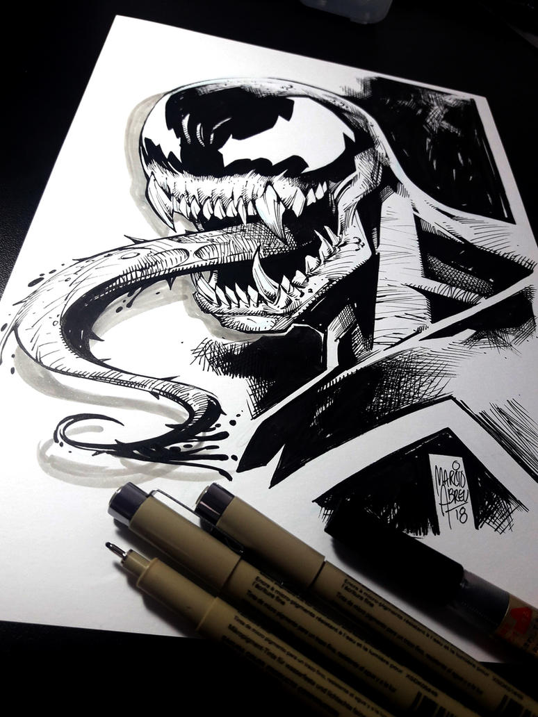 Venom - Inktober2018 by MARCIOABREU7