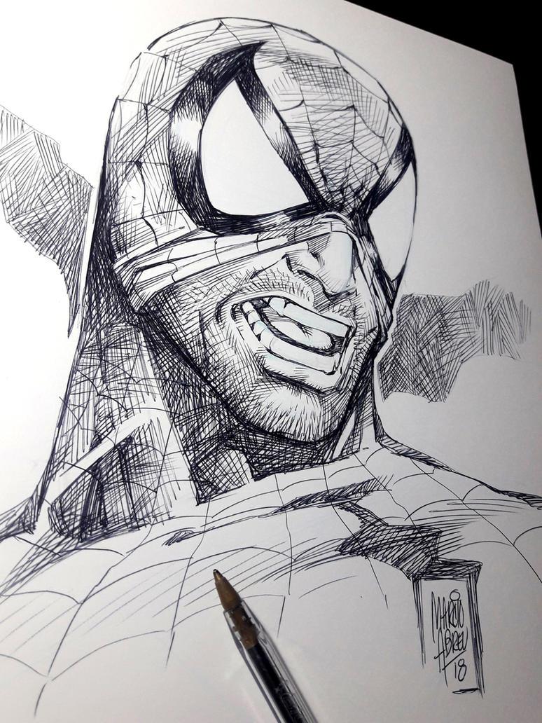 Spiderman Inktober2018 by MARCIOABREU7