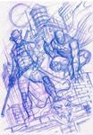 Sketch Ronim Batman Marcio Abreu