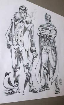 Penguin and Batman