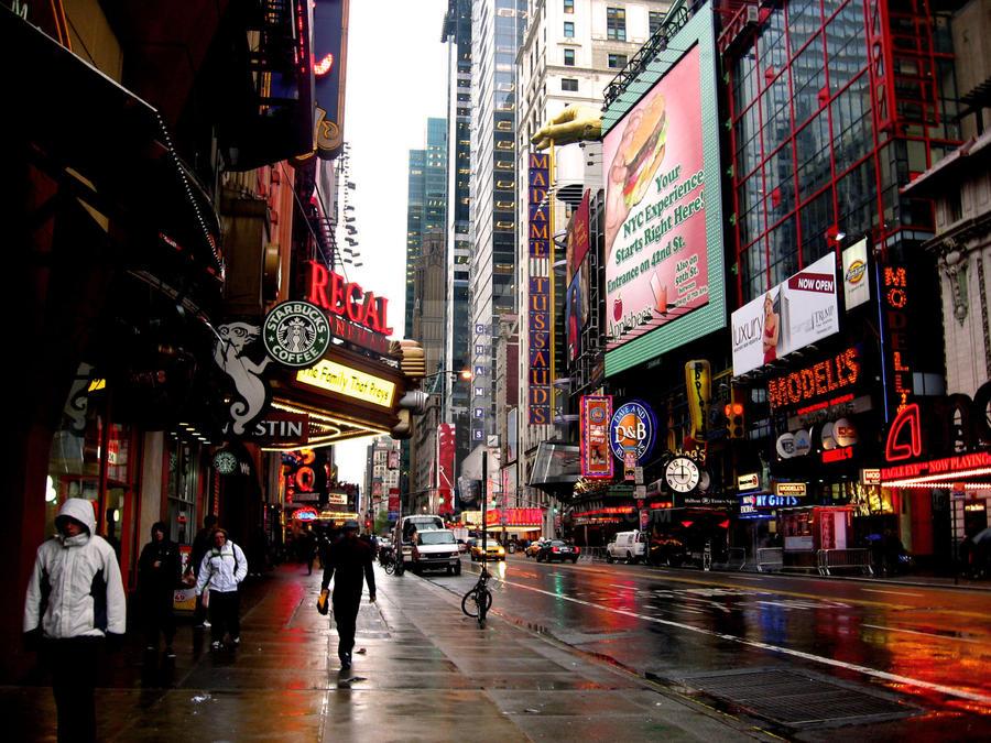 A Rainy Afternoon in New York City by tiggemybob