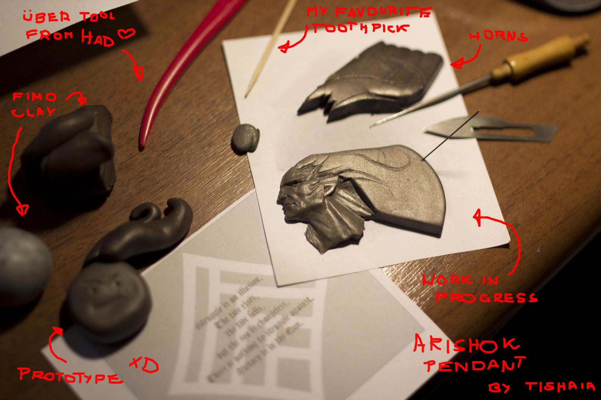 Work in progress - Arishok pendant