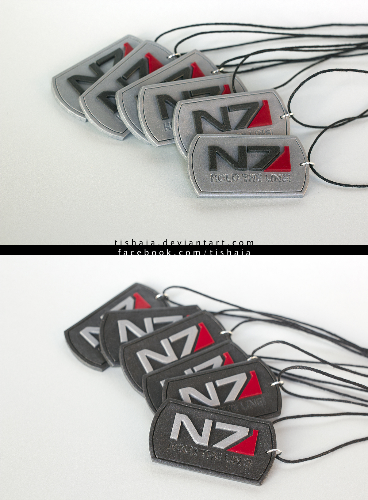 Hold the line! - dogtags by tishaia
