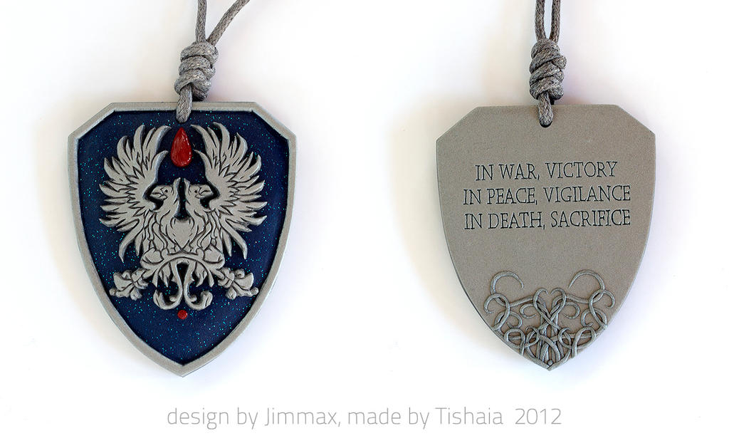 Contest winner - Warden Commander Tribute Pendant by tishaia