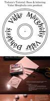 Polymer clay tutorial - Valar Morghuils coin