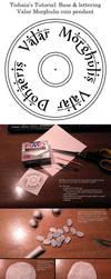 Polymer clay tutorial - Valar Morghuils coin by tishaia