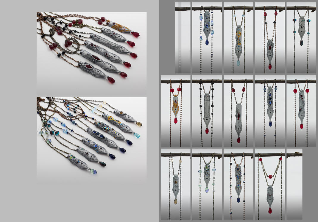 Just write - a series of 13 OOAK pen-dants by tishaia