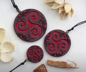 Raspberry triskelions