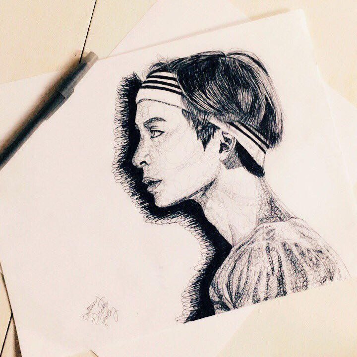 Taehyung Ink Sketch