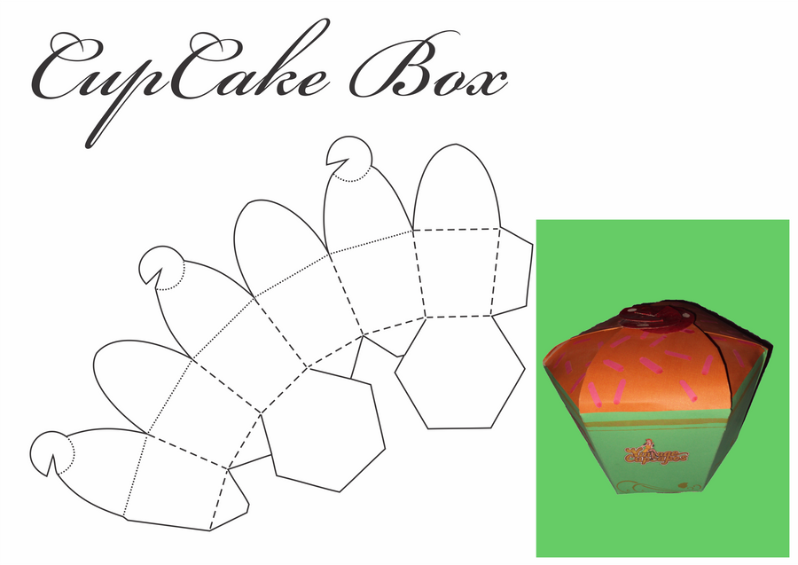 Cupcake Box By Tonalleks On Deviantart