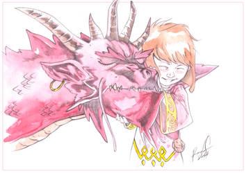 Magicienne et Dragon frame by radja01