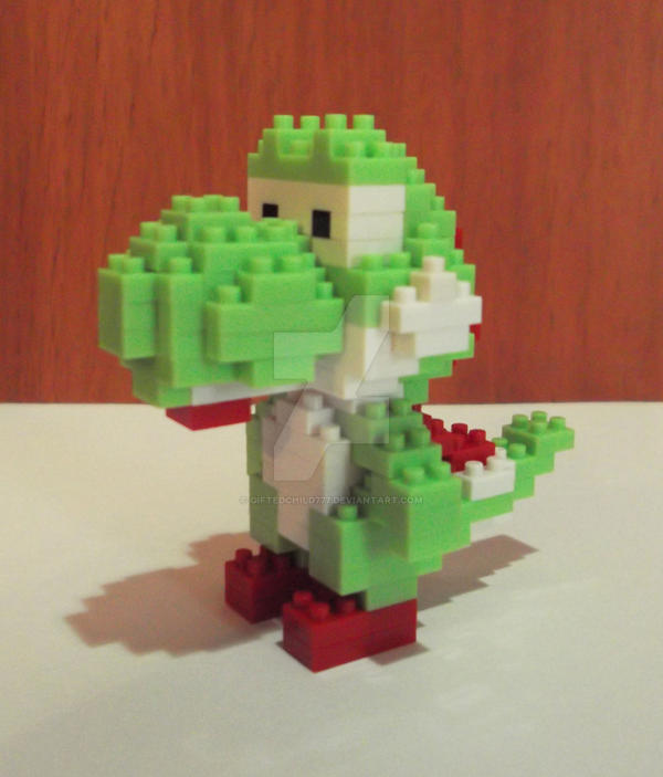 Yoshi Lego Front View by GiftedChild777