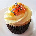 Mango Caramel Cupcake