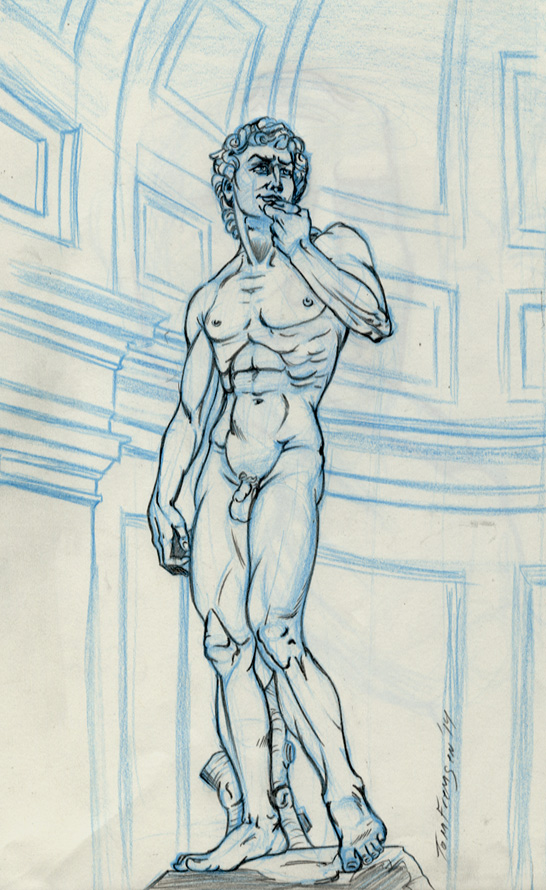 My drawing of Michelangelo's David by tomjf