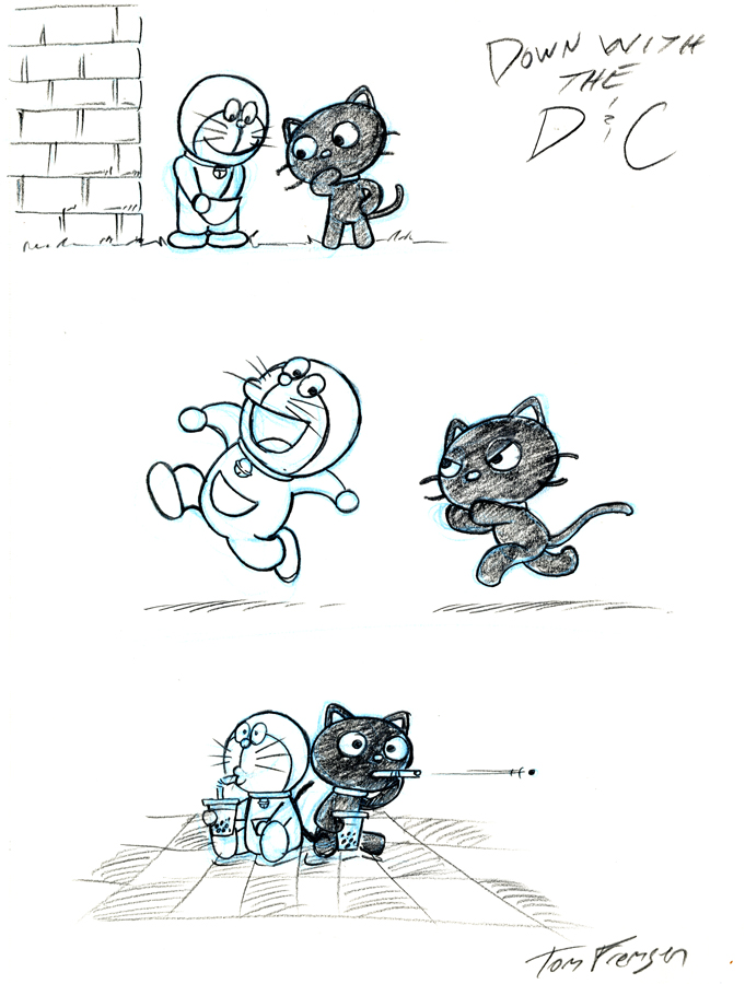 Chococat and DIng-Dong by tomjf
