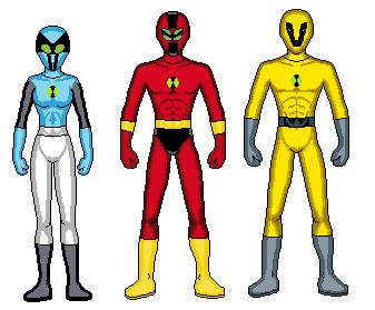 Ben 10 Ranger Team by deadpool-spidey